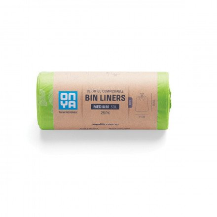Onya Compostable Bin Liners Medium 30L